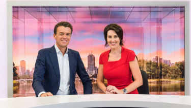 ABC News Breakfast co-hosts Virginia Trioli and Michael Rowland, whose program is about to celebrate 10 years on air.