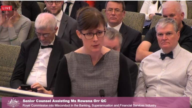 Senior counsel assisting the commission, Rowena Orr.