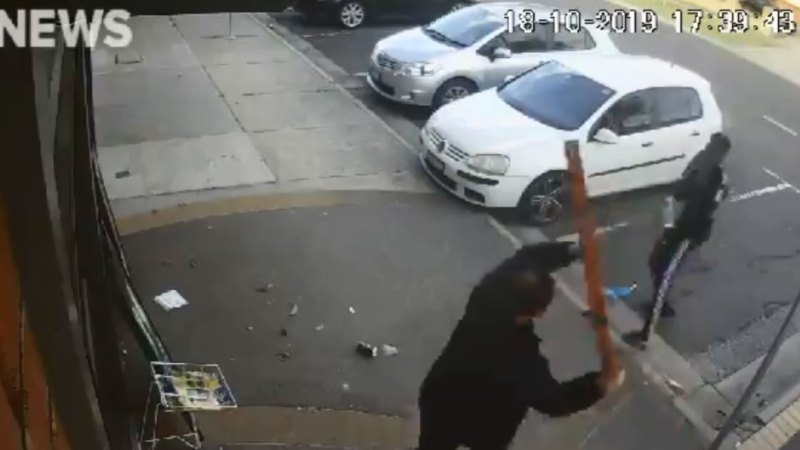 Fierce battle at Doveton bottle shop caught on film