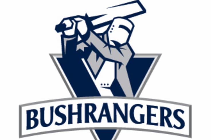 The 2011 update of the Bushrangers logo.