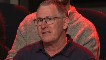 Former police officer Vincent Hurley on ABC TV's Q&A.