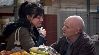 Hayley Squires and Dave Johns in <i>I, Daniel Blake.</i>