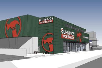 Metropol Planning's proposal for a Bunnings Warehouse store on Glenlyon Road in Brunswick.
