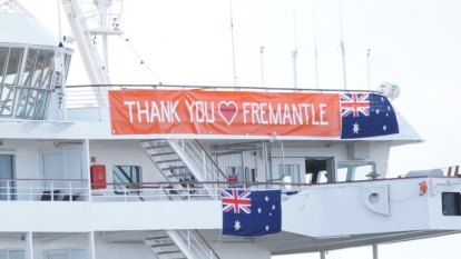 As the day unfolded: Artania passengers and crew have a friendly message for port city