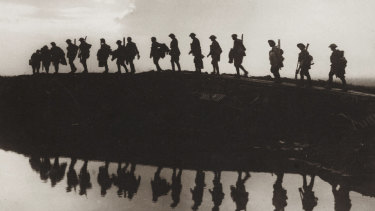 Troops of the 1st Australian Division near Hooge, in the Ypres Sector, Belgium, 1917.