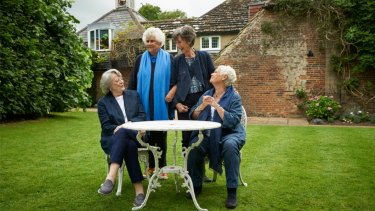 Tea with the Dames stars, from left, Maggie Smith, Joan Plowright, Eileen Atkins and Judi Dench.