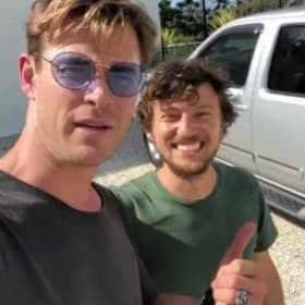 Need a lift? Thor stops his helicopter for hitchhiker