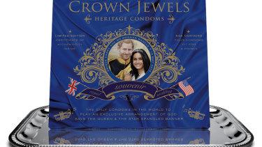 Condoms on a platter: Royal wedding souvenirs.