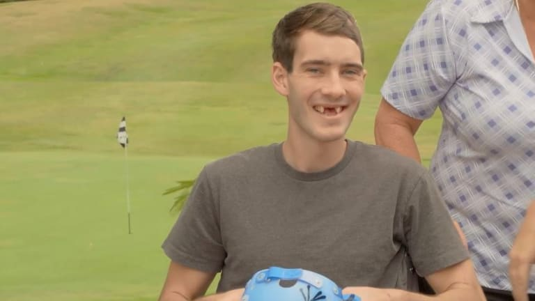 Constable Peter McAulay was dischargedfrom hospital in late November, but still has a long road to recovery.