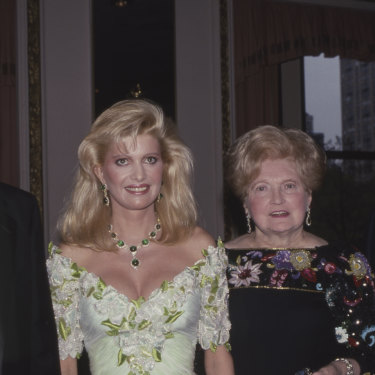 Donald Trump with his first wife, Ivana, and his parents, Mary and Fred Trump, at a 1987 function at the Plaza Hotel in New York.