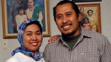Lilik Abdul Hamid (pictured with his wife, Nina) has been named as one of the deceased.