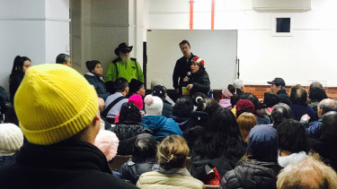 Residents held a meeting about the safe injecting room at the Richmond public housing estate.