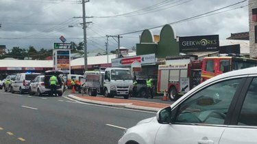 Emergency services were called to a crash at Coorparoo where a man was in critical condition and a female passenger was taken to hospital.