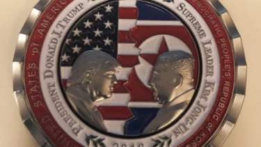 Commemmorative coin minted for the occasion of the now-cancelled Trump-Kim meeting.