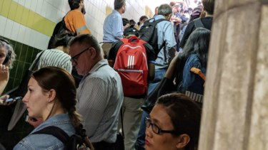 Commuters experienced delays after a Central station platform filled up with offloaded passengers.