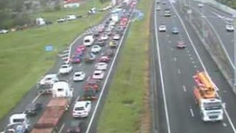 Delays on the Bruce Highway after a crash at Burpengary.