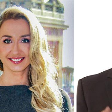 Julia Szlakowski and AMP Capital's Boe Pahari.