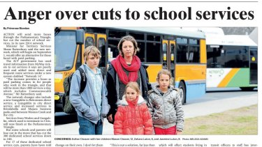 Parents had similar concerns about the 2014 bus network, which cut school services.