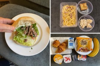 GIF of quarantine hotel food diaries