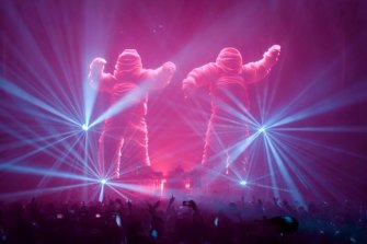 The Chemical Brothers played second fiddle to the spectacular visuals created by Marcus Lyall and Adam Smith.