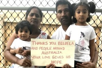 Priya and Nadesalingam and their Australian-born daughters Kopika and Tharunicaa.