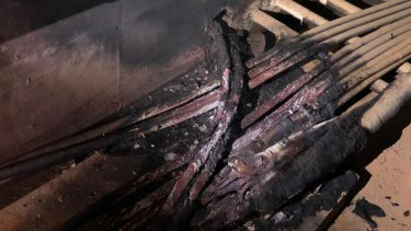 The power outage was cause by a basement fire in the Hornsby zone substation, severely damaging cables.