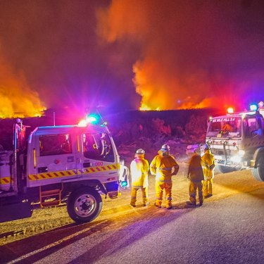 At the height of the blaze, hundreds of firefighters were on the ground.
