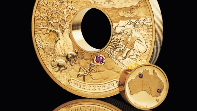 The Discovery gold coin is worth a cool $2.5 million.