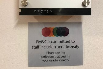 Prime Minister Scott Morrison said he wanted the gender neutral bathroom signs removed from his department.