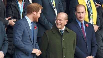 Tensions remain as Harry returns for Philip's funeral
