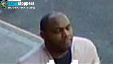 This image taken from surveillance video provided by the New York City Police Department shows a person of interest in connection with an assault of an Asian American woman, Monday, March 29, 2021, in New York.