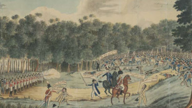 Convict Uprising at Castle Hill, 1804, detail.