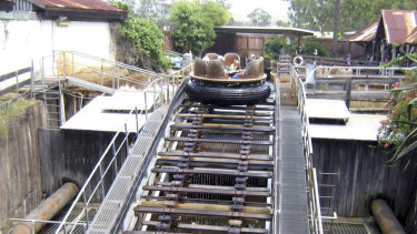 The Thunder River Rapids ride in 2008.