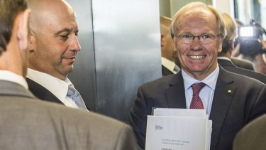 Headline act: Peter Beattie embarrassed the ARL Commission with his slip-up on the ABC's 7.30.