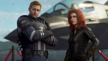 The game's characters, voiced by an all-star cast of video game actors, don't look much like the Hollywood versions.