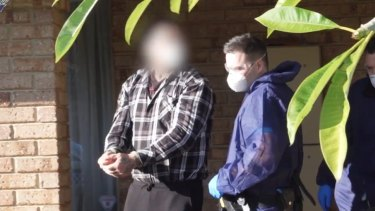 WA bikie Troy Mercanti is arrested on Tuesday, July 7. Picture: WA Police