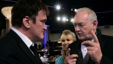 Directors Quentin Tarantino, left and Brian Trenchard-Smith at the BAFTAs.