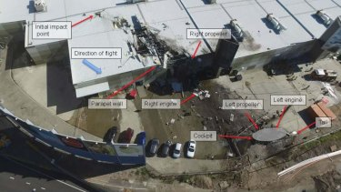Analysis of the plane's wreckage from a report by the Australian Transport Safety Bureau.