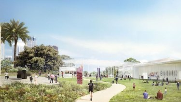 Artist's impression of the proposed Sydney Modern Art Gallery expansion.