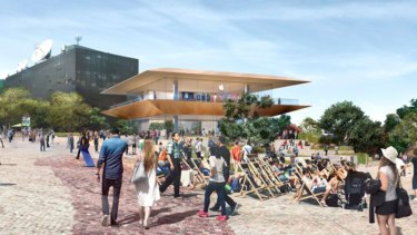 The original December 2017 Apple store proposal at Federation Square.