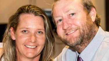 Helicopter pilot Brent Acton and his wife, Shona.