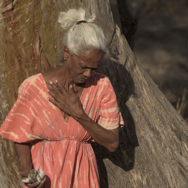 Kamilaroi elder Polly Cutmore at what is believed to be the site of the Waterloo Creek massacre in Moree.