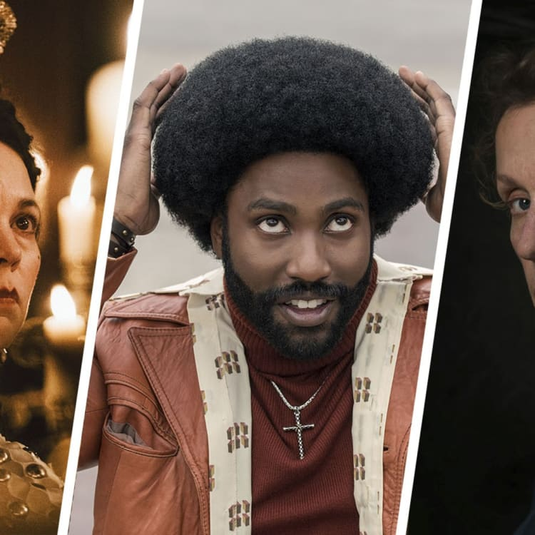 Olivia Colman in The Favourite, John David Washington in BlacKkKlansman and Frances McDormand in Three Billboards Outside Ebbing, Missouri