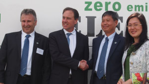 Brighsun group chair Allen Saylav, former climate change minister Greg Hunt, Brighsun director Kejun 'Kevin' Huang and Gladys Liu.