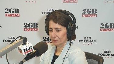 Premier Gladys Berejiklian speaks to Ben Fordham about her love life on Monday.