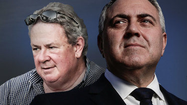 Businessman Andrew Burnes and his friend, ambassador to the US, Joe Hockey.
