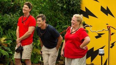 The three finalists on I'm A Celebrity ... Richard Reid, Shane Crawford and Yvie Jones.