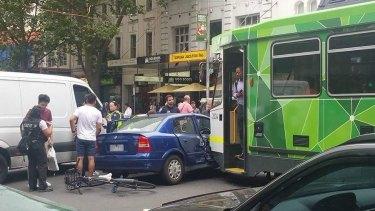 A car hit on Elizabeth Street last year.