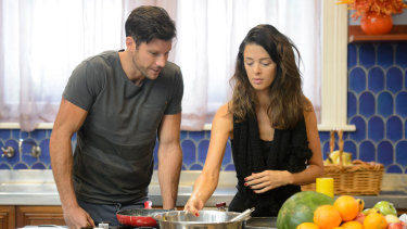 Emily Simms with Sam Wood on Season Three of The Bachelor.