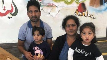 Priya and Nadesalingam and their Australian-born daughtersKopika and Tharunicaa.